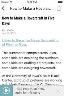 Iowa Public Radio App- screenshot thumbnail