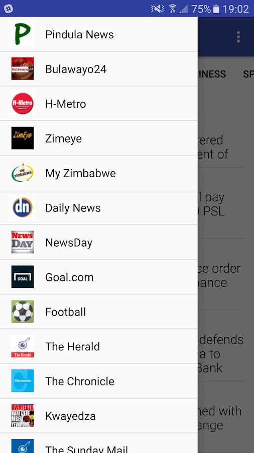 Zim News- screenshot