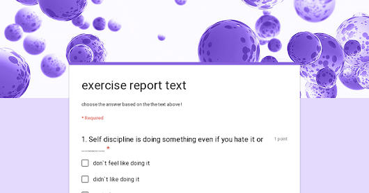 exercise report text