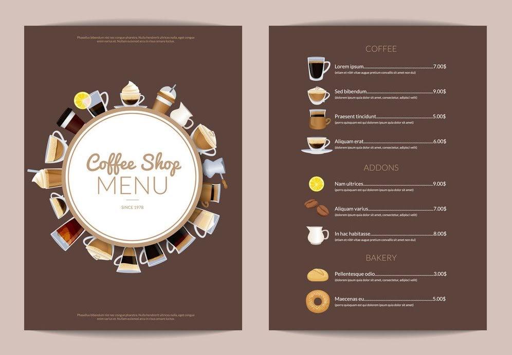 NHỮNG MẪU MENU CAFE