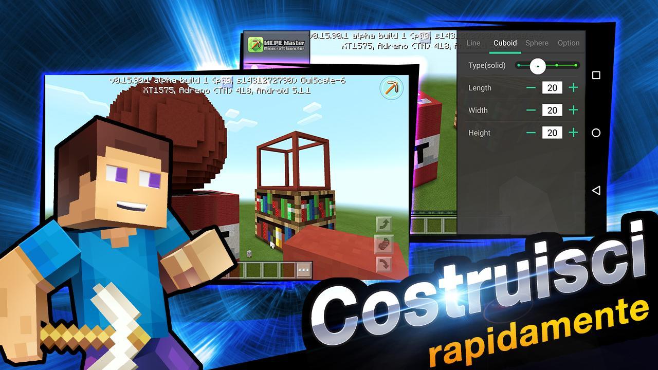 Master per minecraft launcher app android su google play for Lista punch per la costruzione di nuove abitazioni