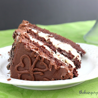 Irish Cream Chocolate Layer Cake.