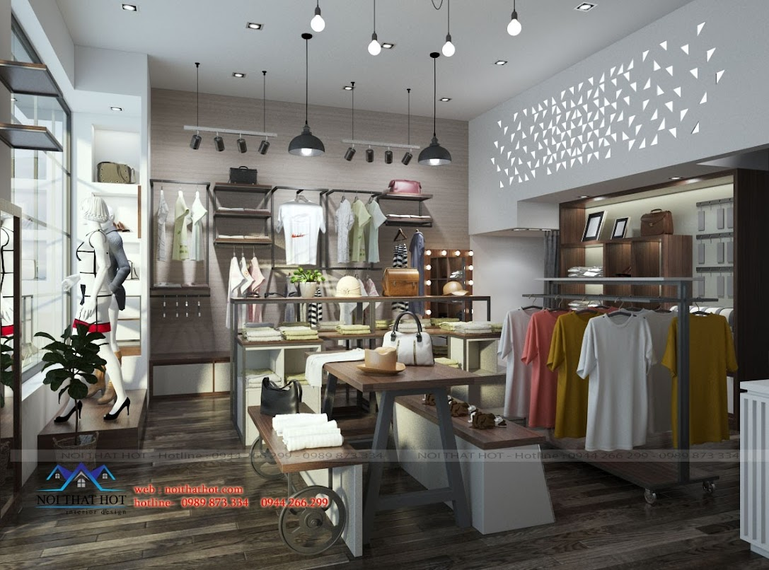 Thiết kế shop thời trang hiện đại