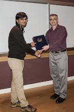 Photo: Ankush Gupta accepting the Warren Y. Dere Design Award.