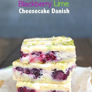 Blackberry Lime Cheesecake Danish