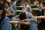 Matric pupils writing their exams. File photo.