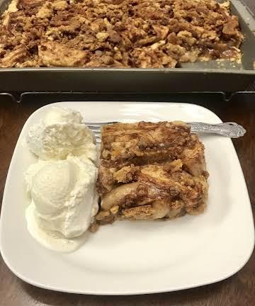 Apple Slab Pie With Cinnamon Crumble Recipe