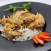 Deep fried soft shell crab with salted egg.