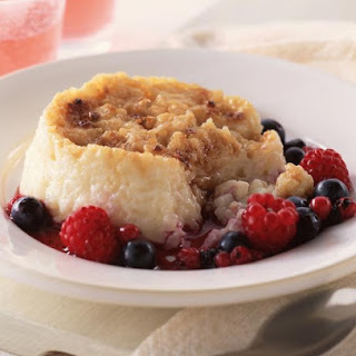 Caramelized Rice Pudding with Summer Fruit.