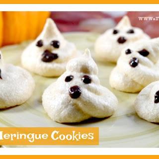 Ghostly Meringue Cookies.