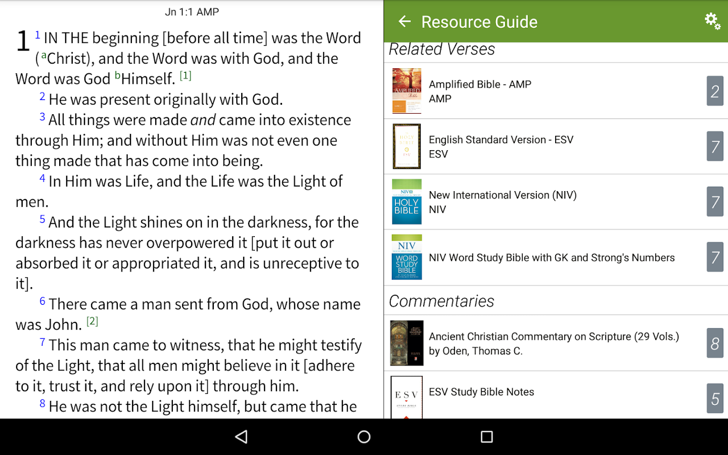 Amplified Classic Bible by Olive Tree- screenshot