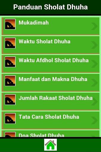 Panduan Sholat Dhuha