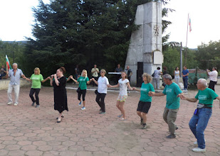 Photo: 4.Кметът на селото поведе хорото