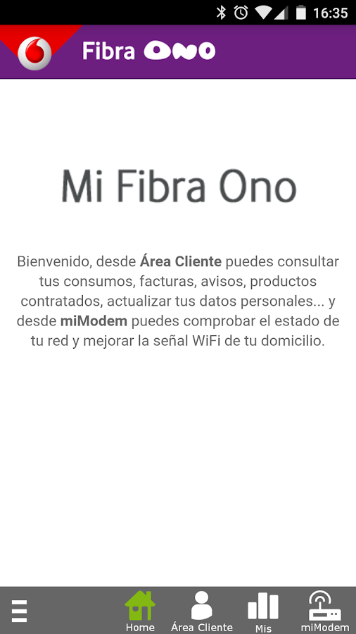 Mi Fibra Ono- screenshot
