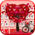 Lovely 3d Pedals Heart Keyboard Theme icon