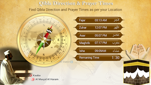 Qibla Finder and Prayer Times