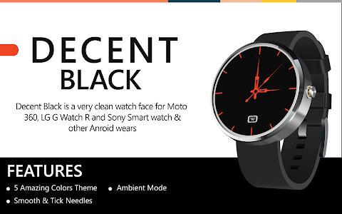 Decent Black for Moto 360 screenshot 3