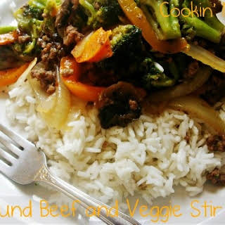 Ground Beef and Veggie Stir Fry.