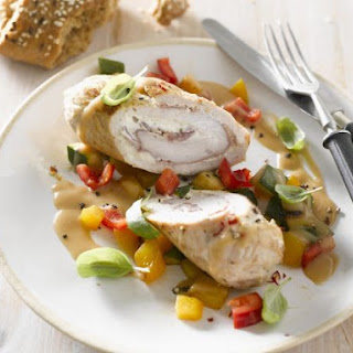 Rolled Turkey Breast with Vegetables.