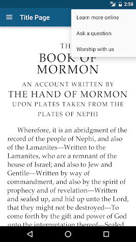 The Book of Mormon Screenshot