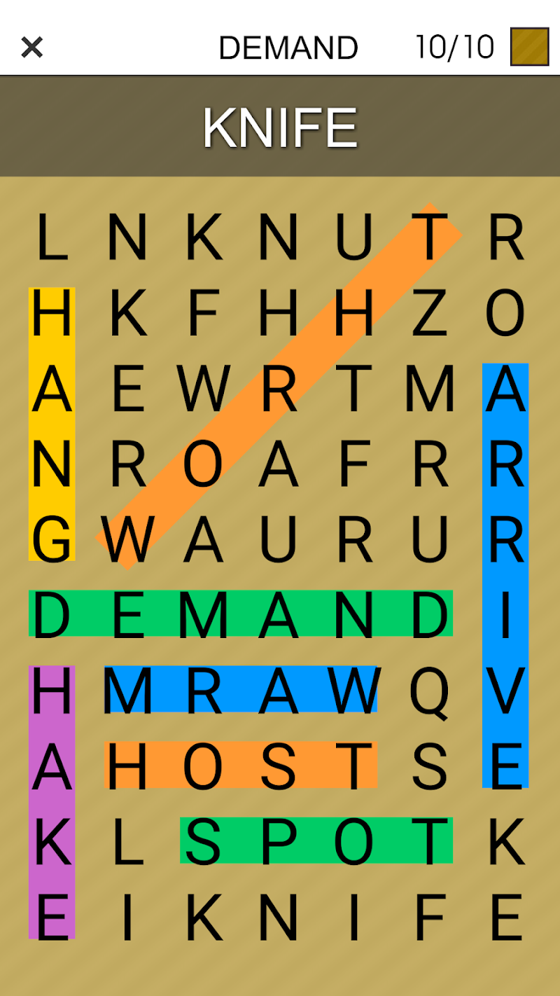 One By One - Multilingual Word Search Screenshot 4