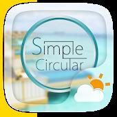 Simple Circular Weather Widget