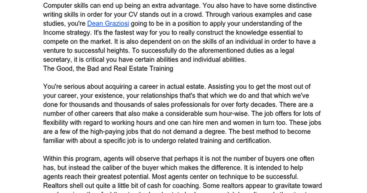 What to Expect From Real Estate Training?