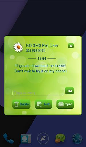 【免費個人化App】GO短信加强版Sprinf花-APP點子