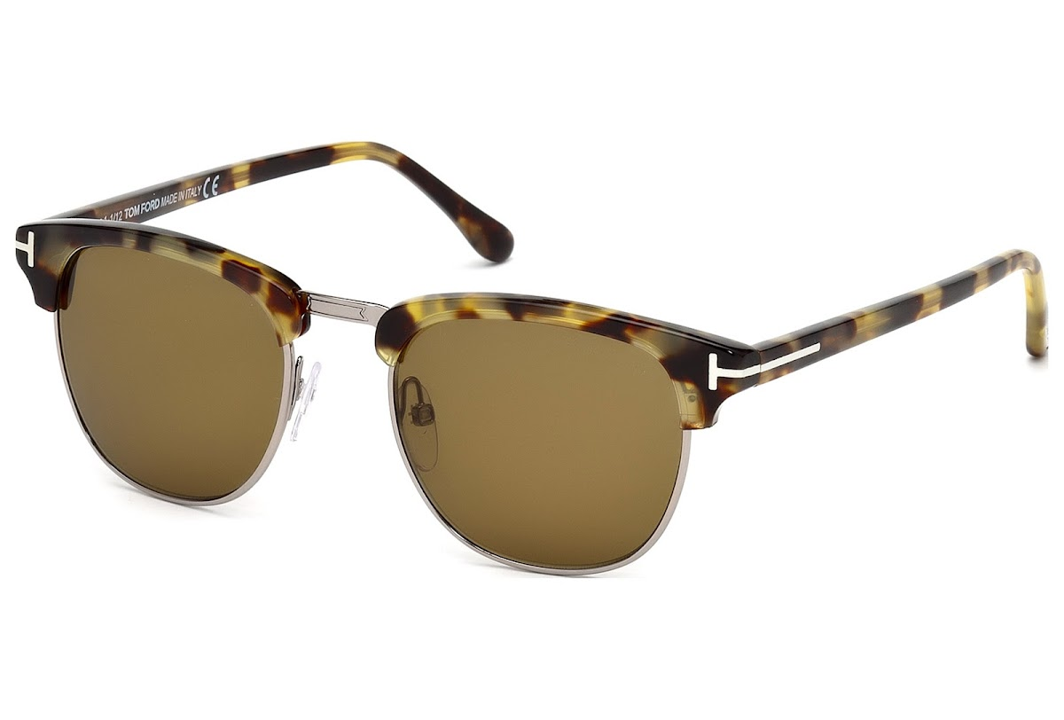 a18d35bed85d1 Sunglasses Tom Ford Henry FT0248 C51 55J (coloured havana   roviex)