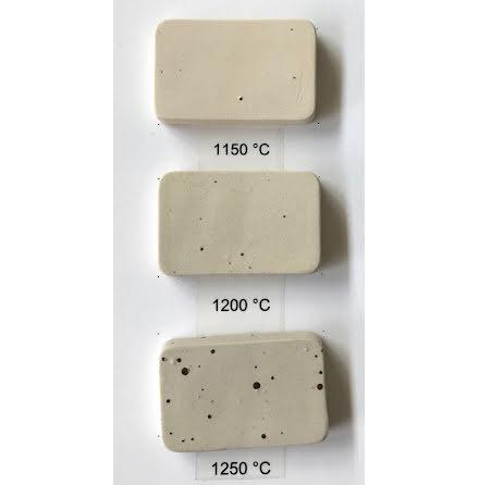Stengodslera med prickar och chamotte - 1000-1280°C