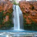 Natural Waterfalls Live Wallpa icon