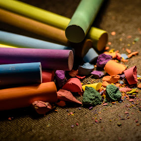 Colours of Childhood by Ovidiu Sova - Artistic Objects Other Objects ( chalk, colors, write, childhood, drawing,  )