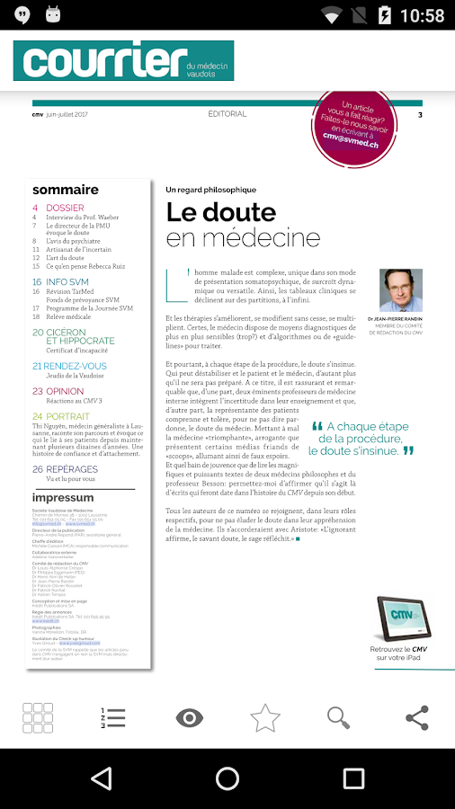 Courrier du médecin vaudois- screenshot