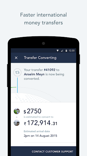 Screenshot 3 for TransferWise's Android app'