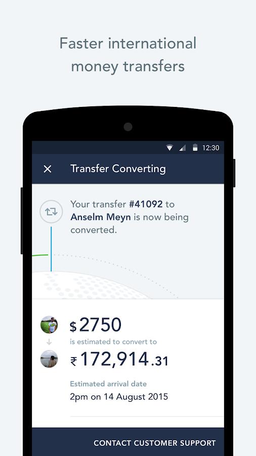TransferWise Money Transfer - screenshot