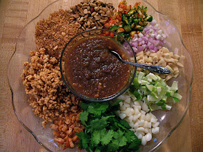 "Photo: a finished platter of ""miang kam"""