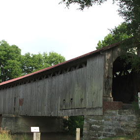 Mull Covered Bridge by Judy Soper - Novices Only Street & Candid ( history, old, covered bridge, bridge, antique )