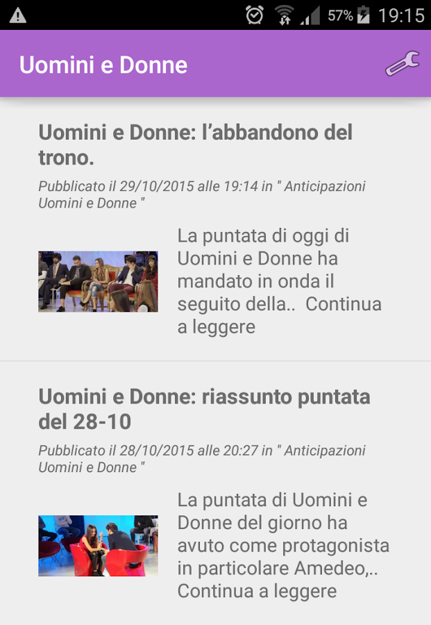Uomini e Donne- screenshot