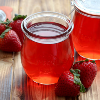 Strawberry Simple Syrup.