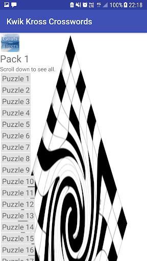 Kwik Kross Crosswords 1.0 screenshots 2