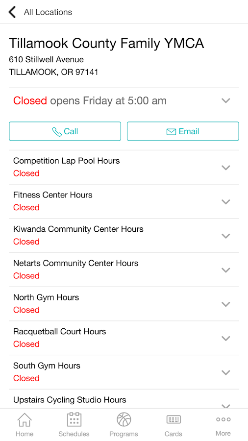 Tillamook County Family YMCA- screenshot