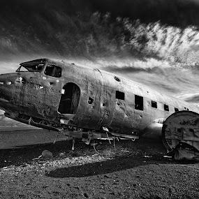 Airplane Carcass 2 by Fokion Zissiadis - Transportation Airplanes ( airplane carcass 2 iceland,  )
