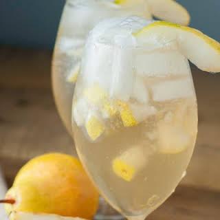 Pear Ginger Vodka Cocktail.