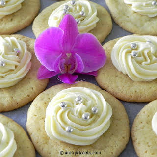 Sugar Cookies with Almond Frosting.