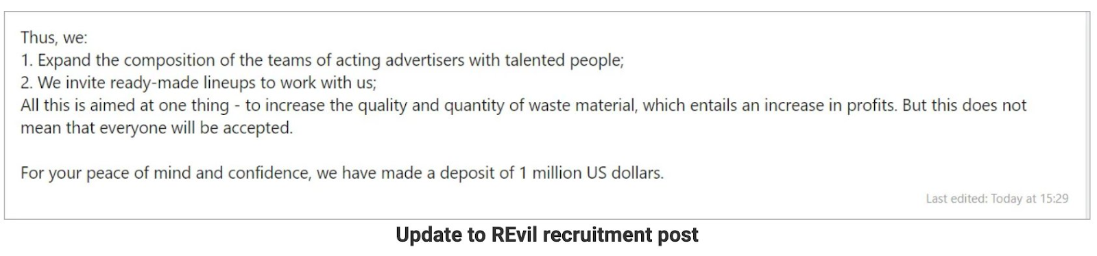 Post de recrutamento