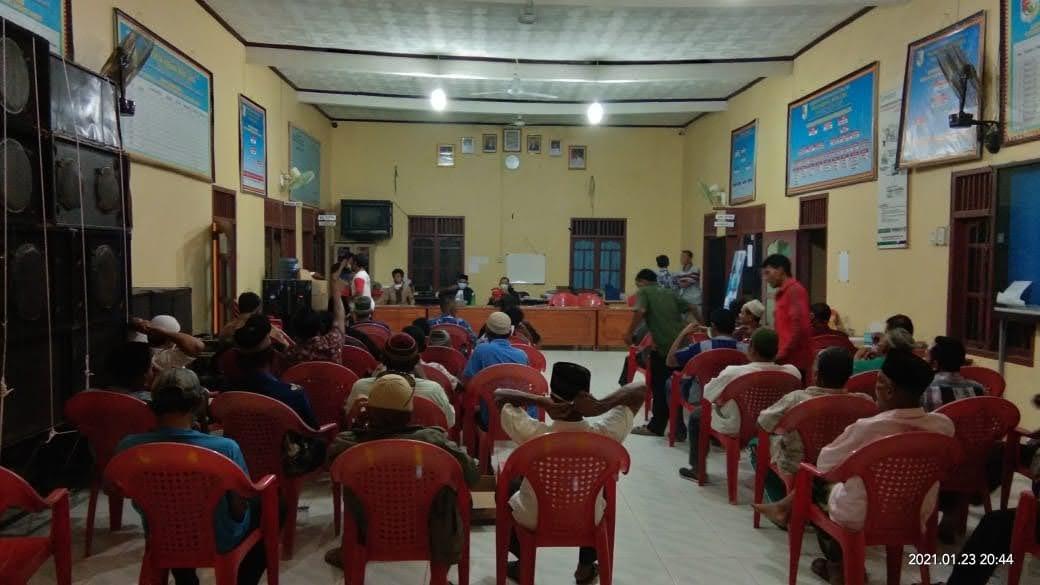 Kepalo Tiyuh Kibang Budi Jaya Rapat Kordinasi Dengan Warga