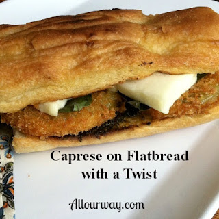 Caprese Flatbread Sandwich with a Twist Recipe