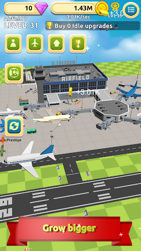 airfield tycoon clicker game screenshot 2