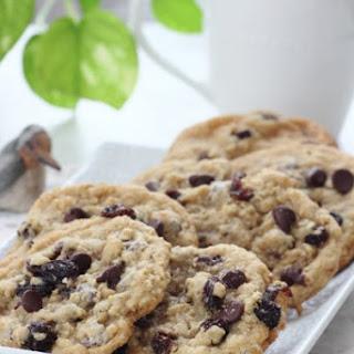 Rum Raisin Oatmeal Chocolate Chip Cookies
