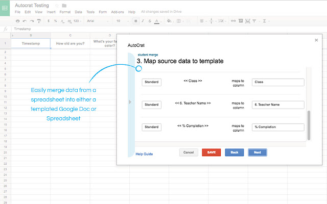 Autocrat - Google Sheets add-on